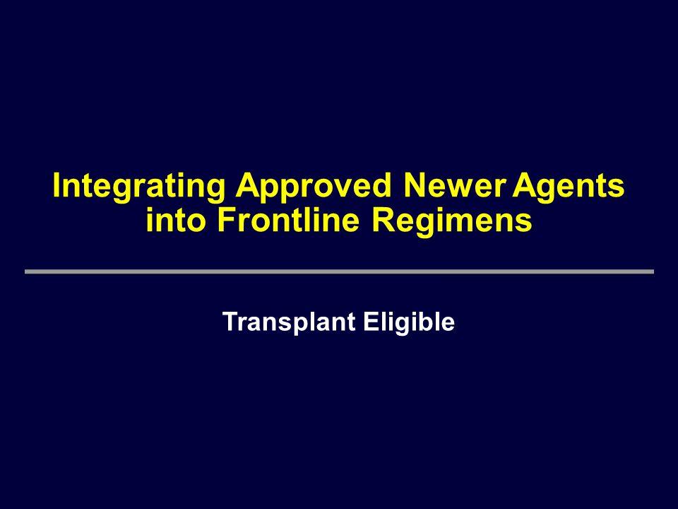 Integrating Approved Newer Agents into Frontline Regimens Transplant Eligible