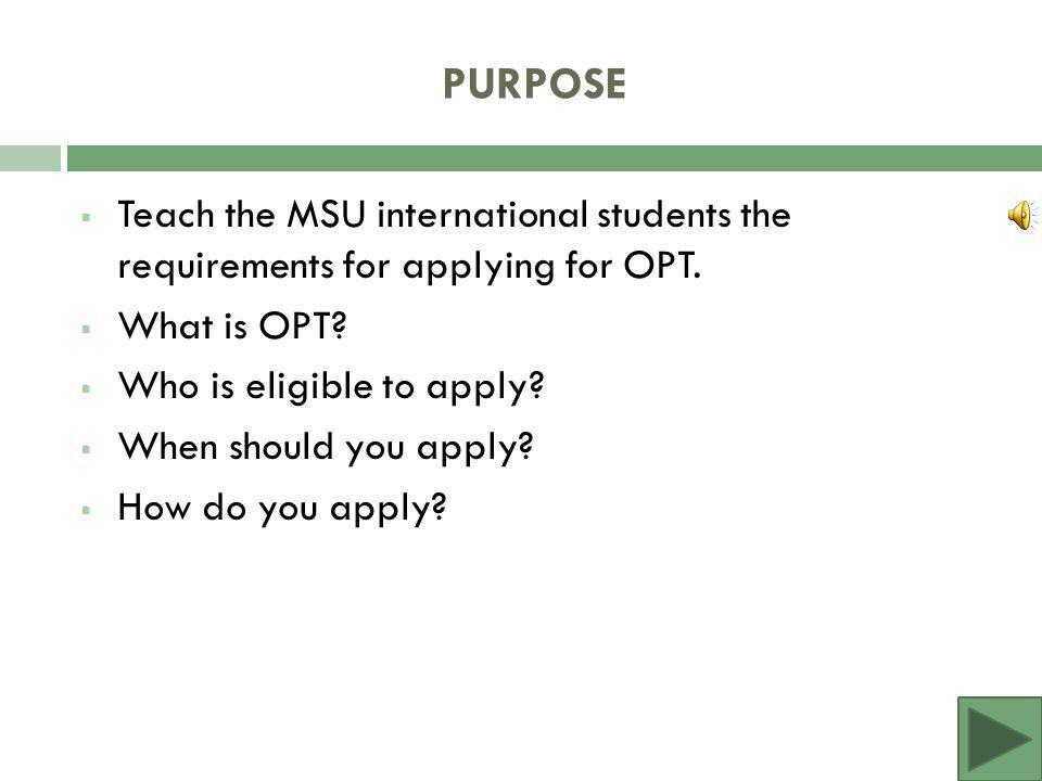Guide to applying for Optional Practical Training (OPT) Graduating.