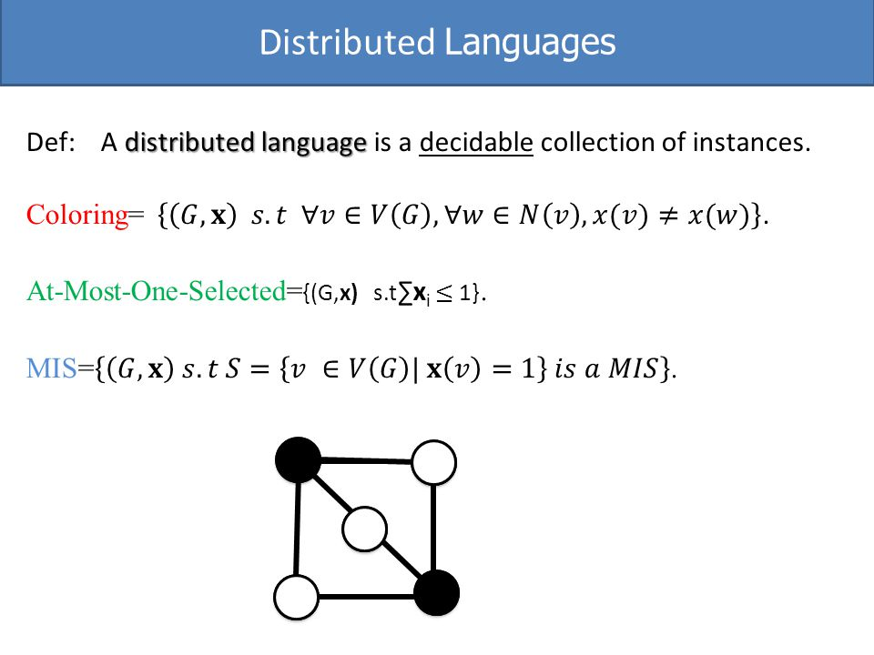Distributed Languages
