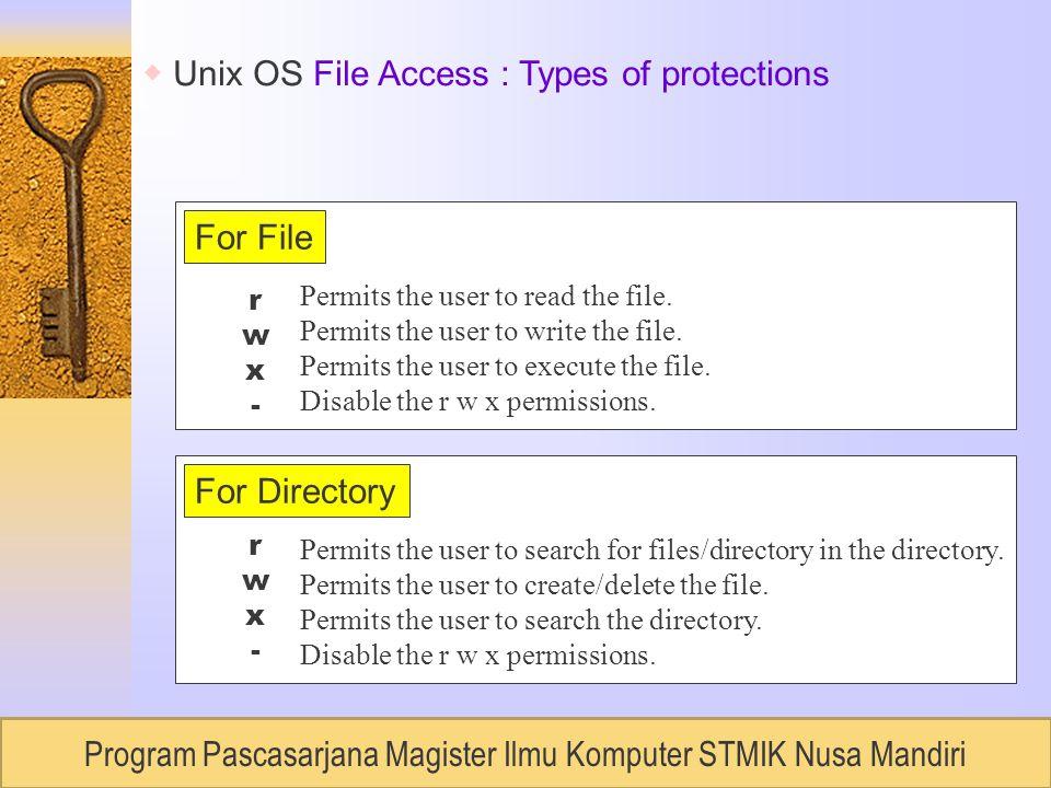 RUDI LUMANTOUNIVERSITAS BUDILUHUR, Semester 2 / 2007 Permits the user to read the file.