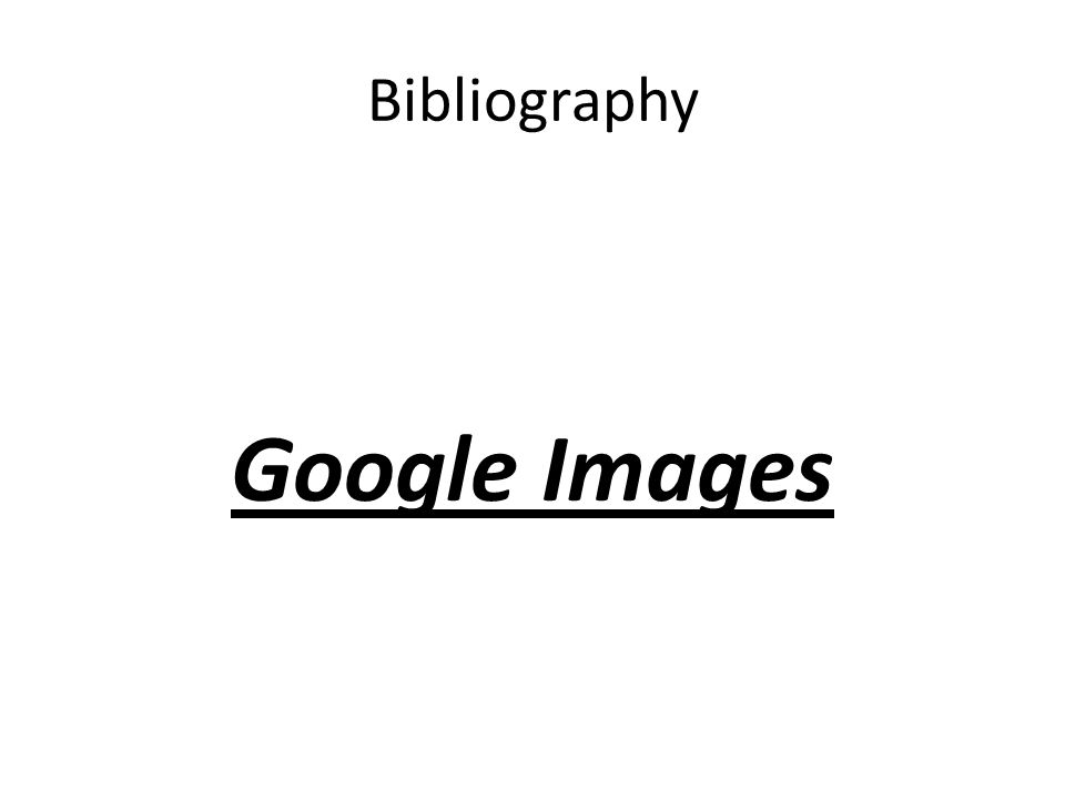 Bibliography Google Images