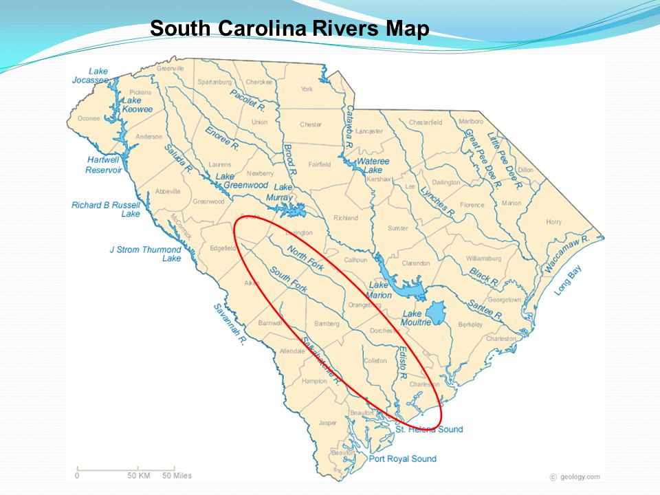 South Carolina Rivers Map