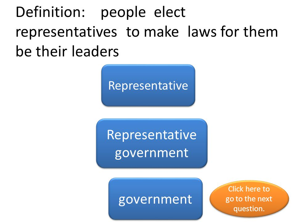 Definition: The different sections of government.