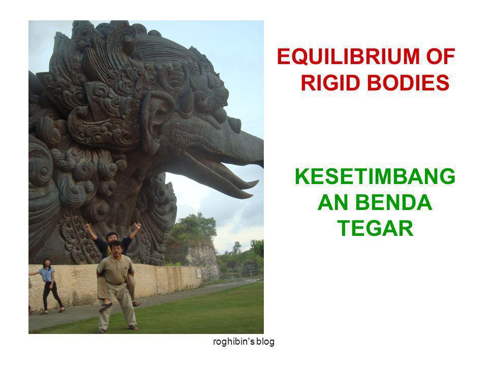 roghibin s blog EQUILIBRIUM OF RIGID BODIES KESETIMBANG AN BENDA TEGAR