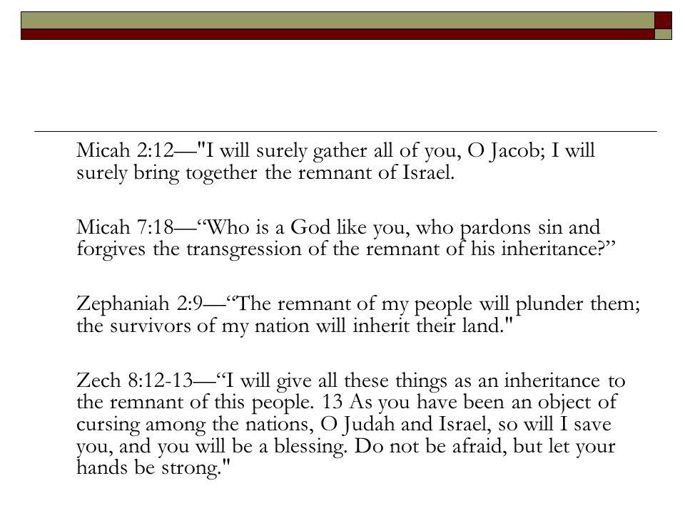 Micah 2:12—