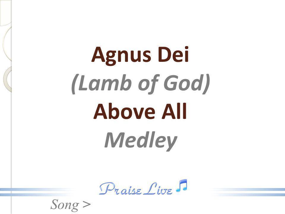 Song > Agnus Dei (Lamb of God) Above All Medley