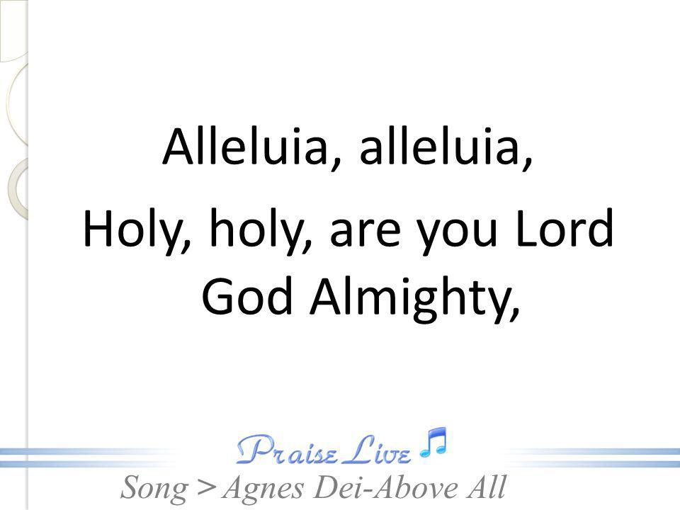 Song > Alleluia, alleluia, Holy, holy, are you Lord God Almighty, Agnes Dei-Above All