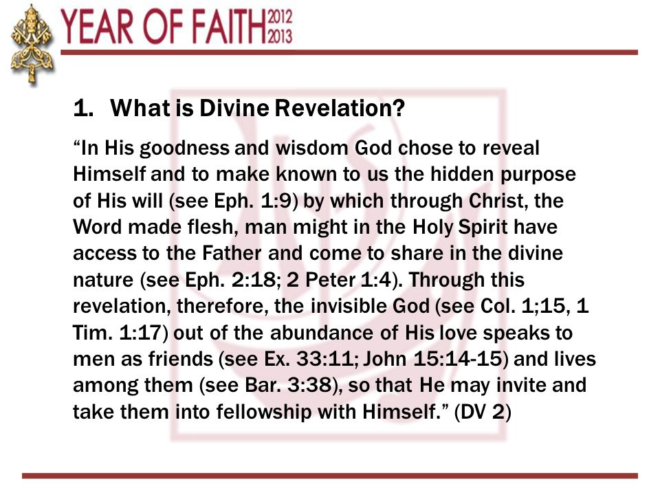 1.What is Divine Revelation.