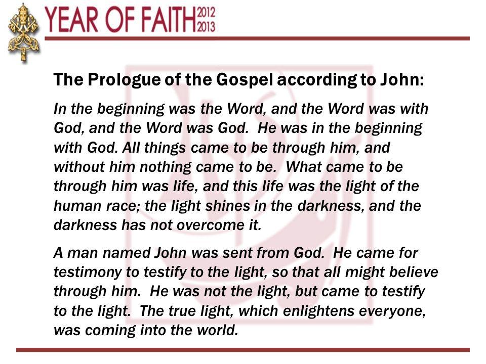 Tonight's Outline A.Prologue of the Gospel of John B.Dei Verbum 1.What is Divine Revelation.