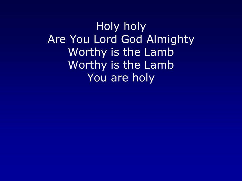 Holy holy Are You Lord God Almighty Worthy is the Lamb You are holy