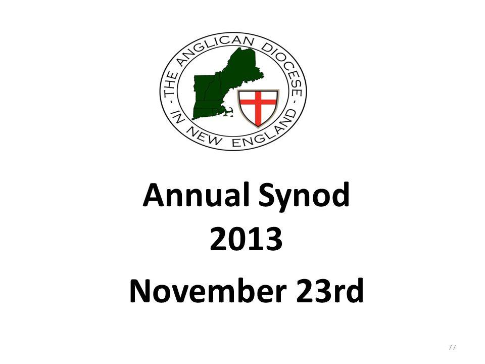 Annual Synod 2013 November 23rd 77
