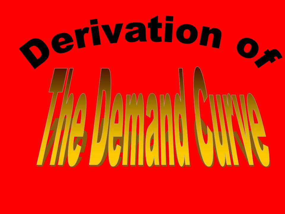 Preview of 4 Coming Attractions Today: Derivation of the Demand Curve –Consumers (Buyers) Next: Derivation of the Supply Curve –Firms (Sellers) Later: Double Auction Market –Buyers and and sellers come together Still later: Competitive Equilibrium Model