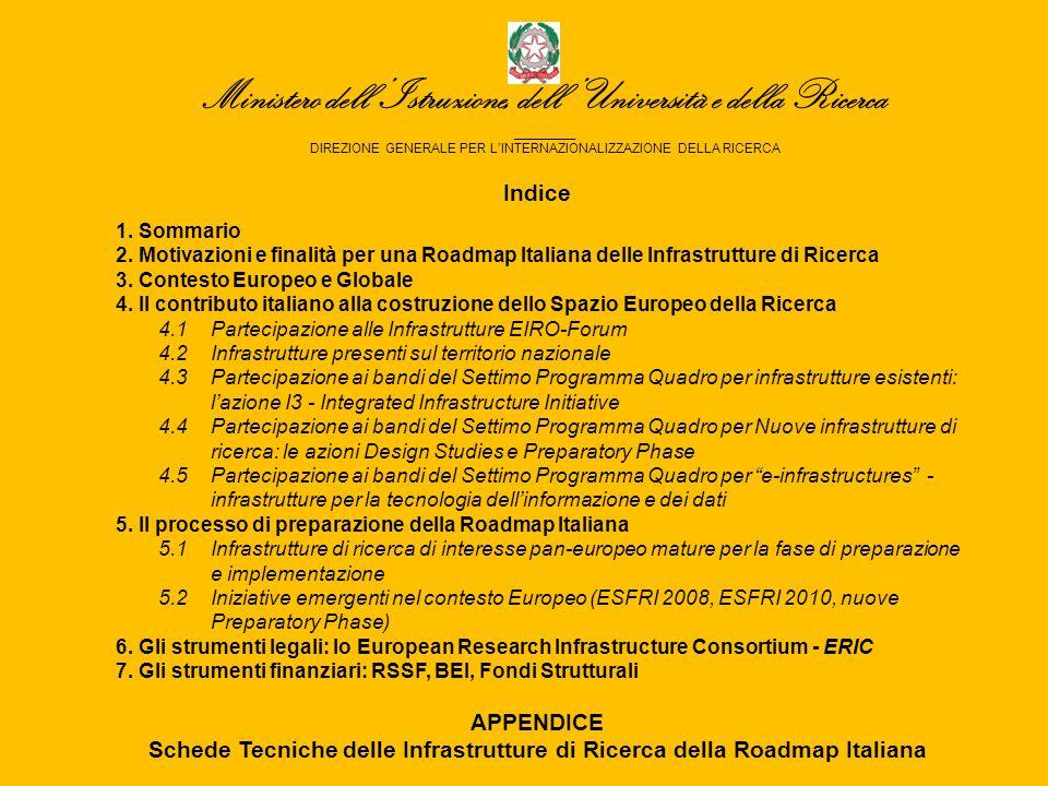 Ministero dell 'Istruzione, dell 'Università e della Ricerca _______ DIREZIONE GENERALE PER L'INTERNAZIONALIZZAZIONE DELLA RICERCA Indice 1.