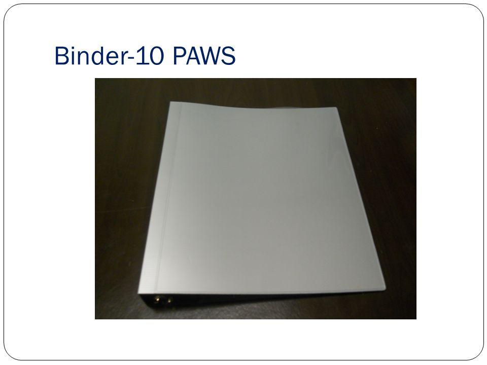 Binder-10 PAWS