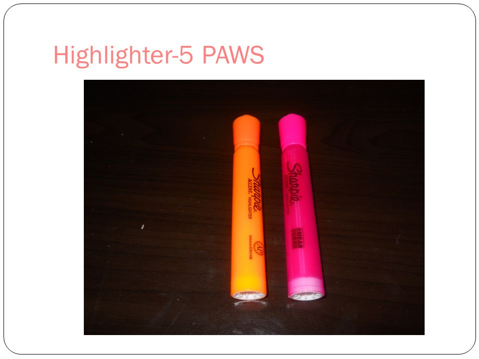 Highlighter-5 PAWS