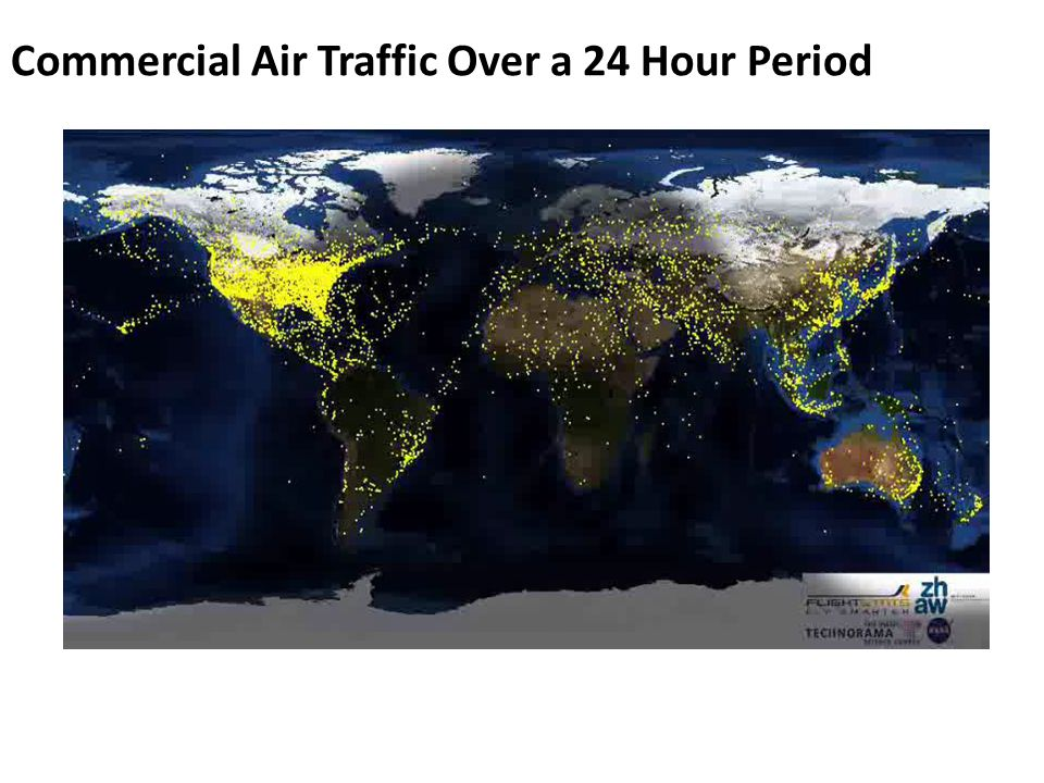 Commercial Air Traffic Over a 24 Hour Period