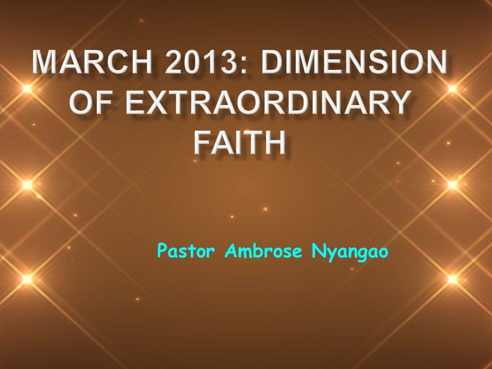 Pastor Ambrose Nyangao