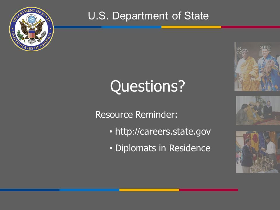 U.S. Department of State Questions.