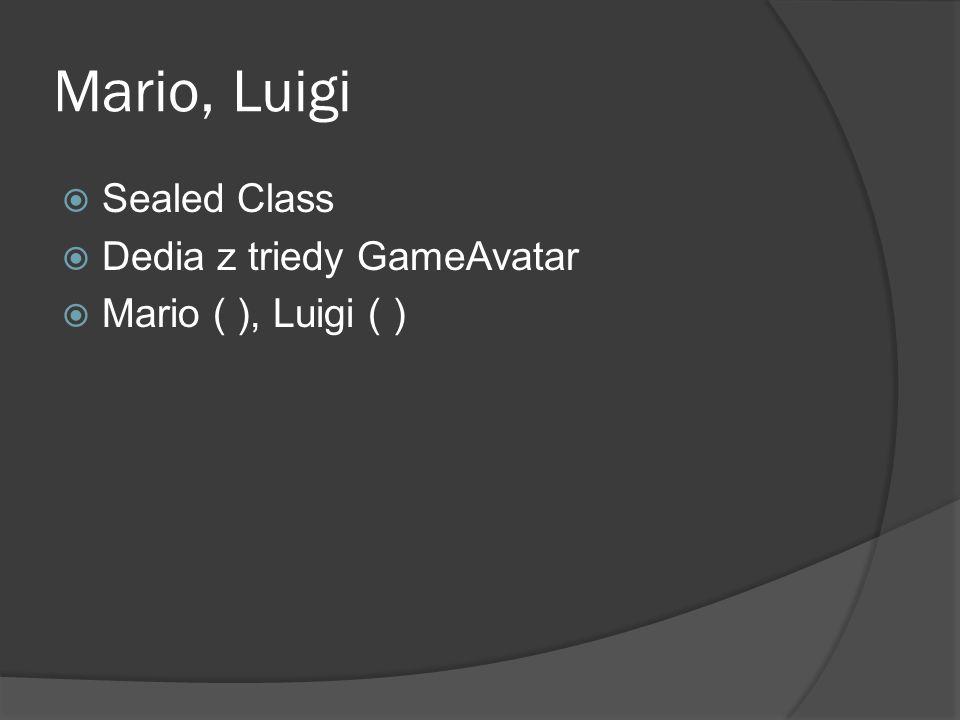 Mario, Luigi  Sealed Class  Dedia z triedy GameAvatar  Mario ( ), Luigi ( )