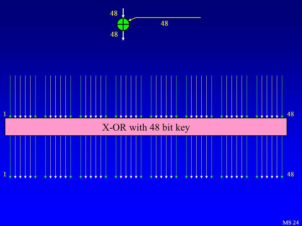 MS 24 148 X-OR with 48 bit key 148