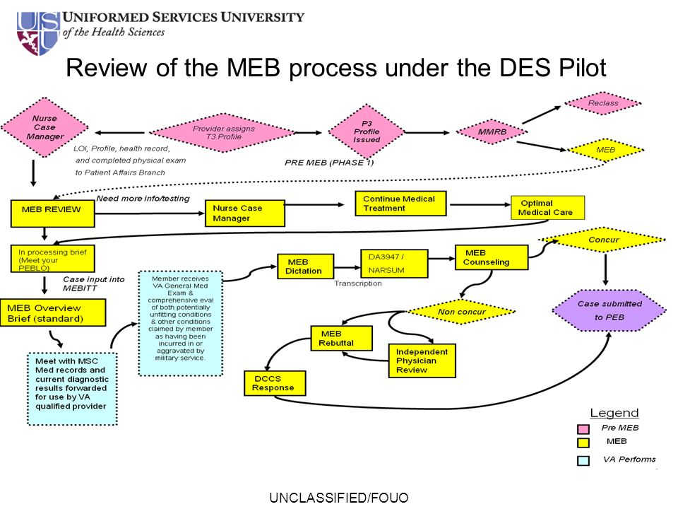 UNCLASSIFIED/FOUO Review of the MEB process under the DES Pilot