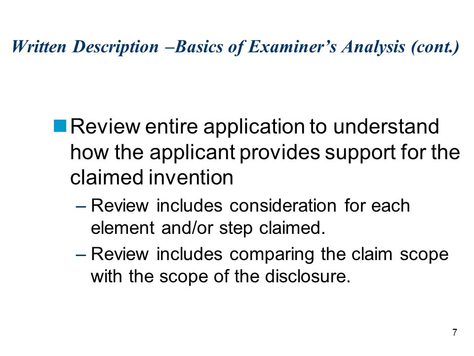 68 Example 11B- Percent Identity Conclusion (Claim 2): –Based on applicant's disclosure and knowledge within the art, those of skill in the art would conclude that applicant would have been in possession of the claimed genus of nucleic acids based on the disclosure of the single species of SEQ ID NO: 1 and relevant identifying characteristics.
