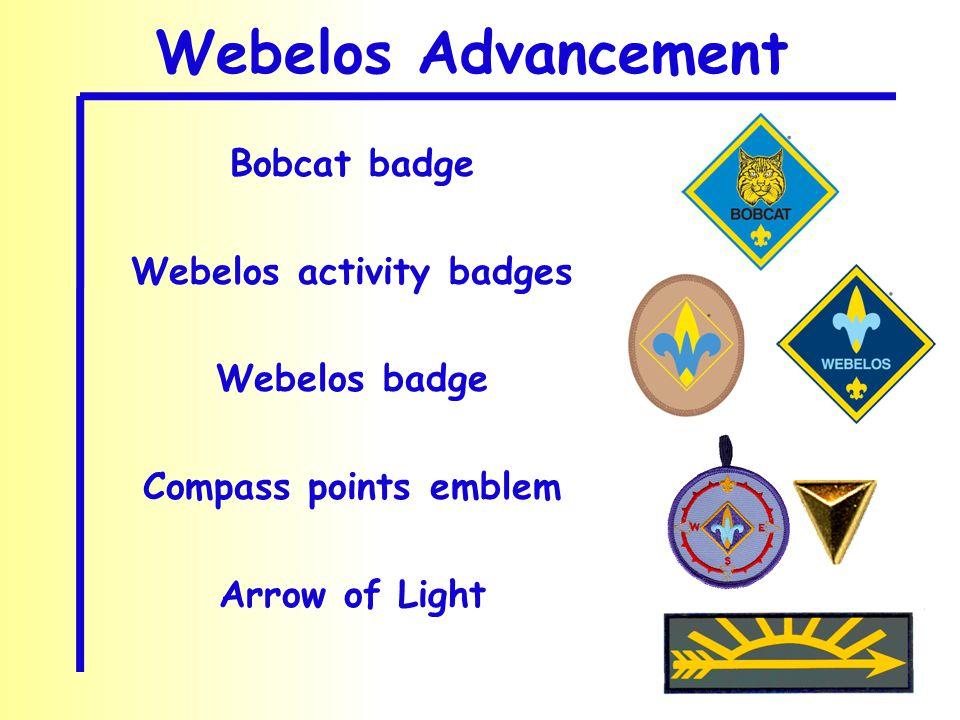 Bobcat badge Webelos activity badges Webelos badge Compass points emblem Arrow of Light