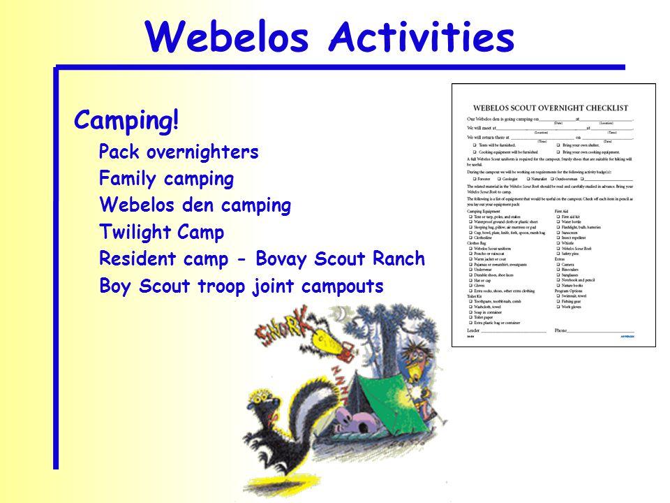 Webelos Activities Camping.