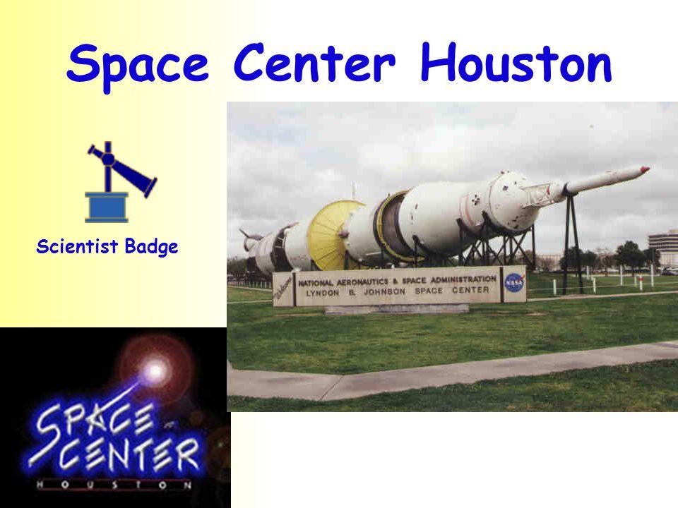 Space Center Houston Scientist Badge