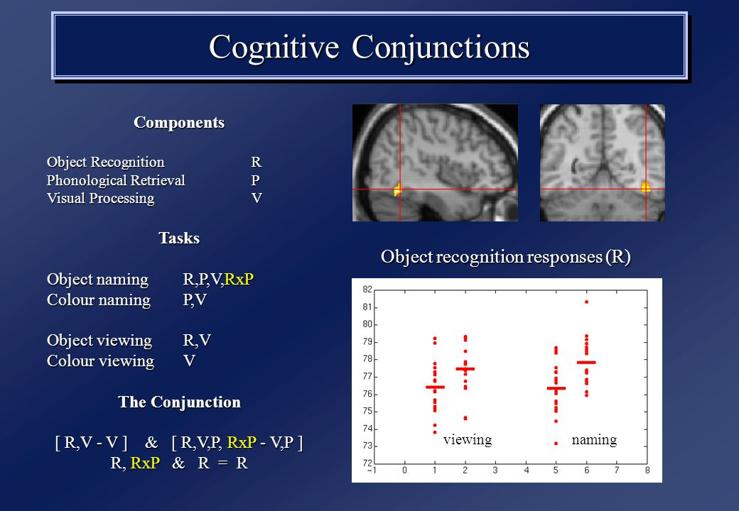 Psychophysiological interactions: interactions: Attentional modulation of V2 - V5 contribution Attention V2 V5 attention no attention V2 activity V5 activity SPM{T} time