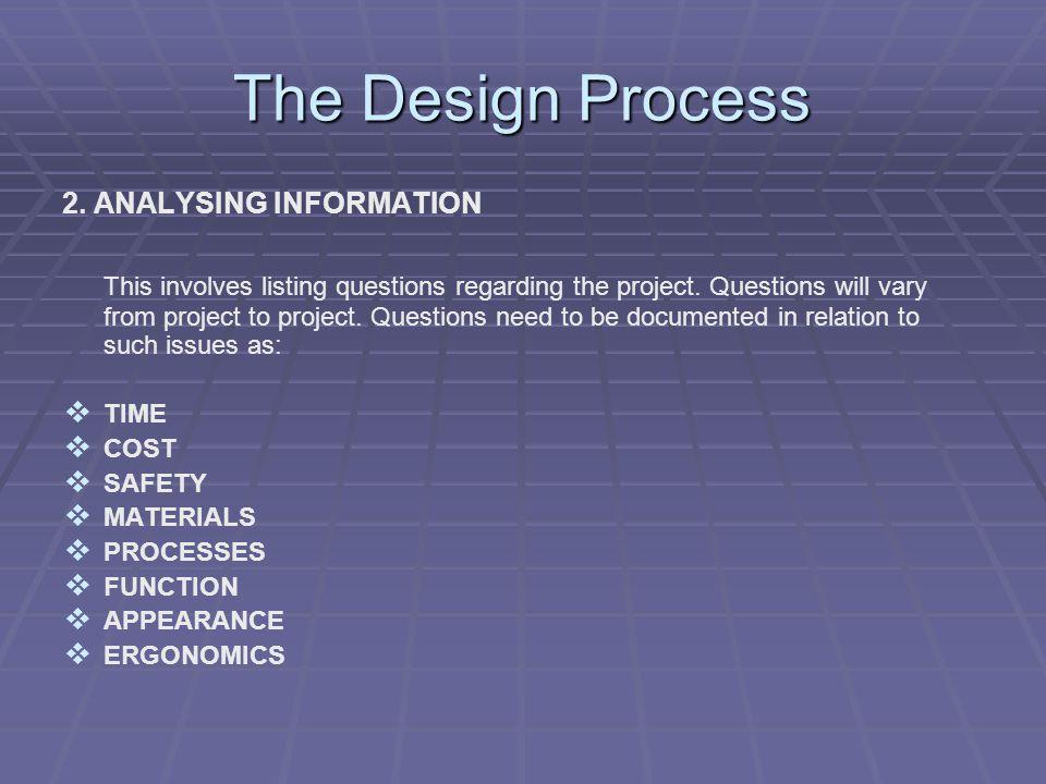 The Design Process 3.