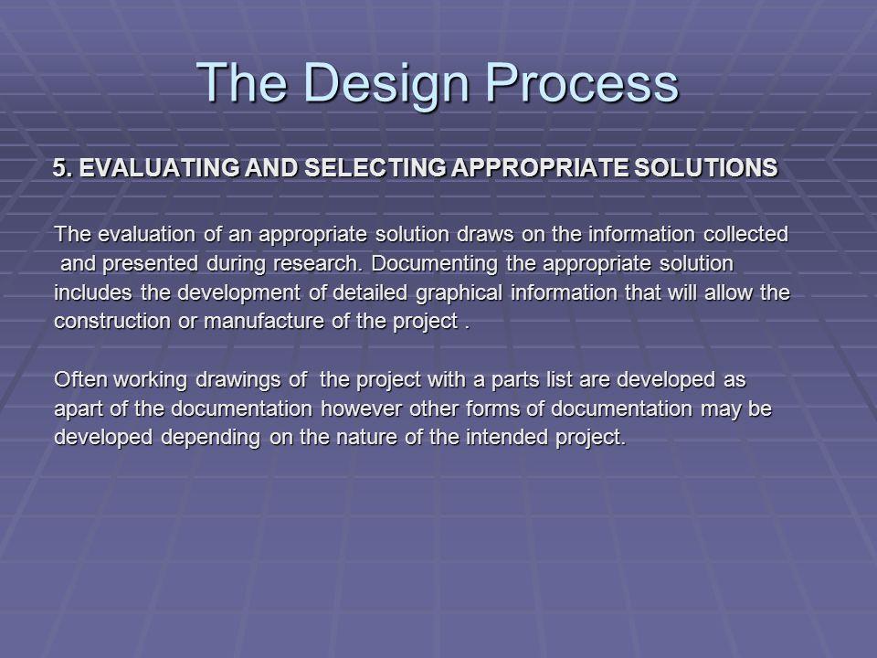 The Design Process 6.