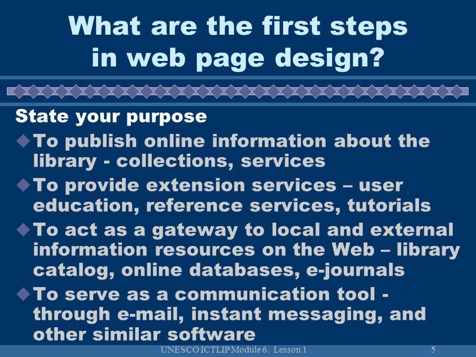 UNESCO ICTLIP Module 6.Lesson 126 How to evaluate web sites.