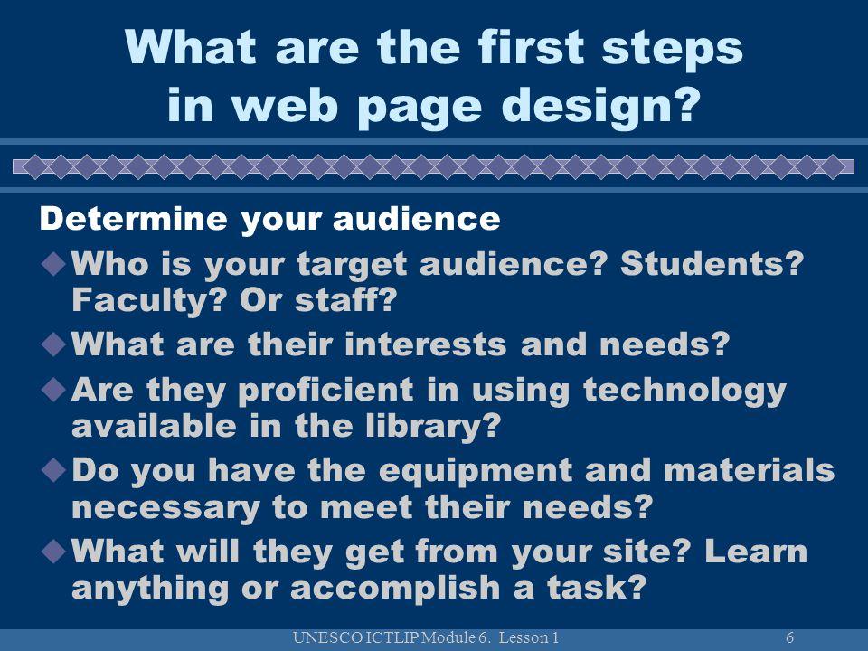 UNESCO ICTLIP Module 6.Lesson 127 How to evaluate web sites.