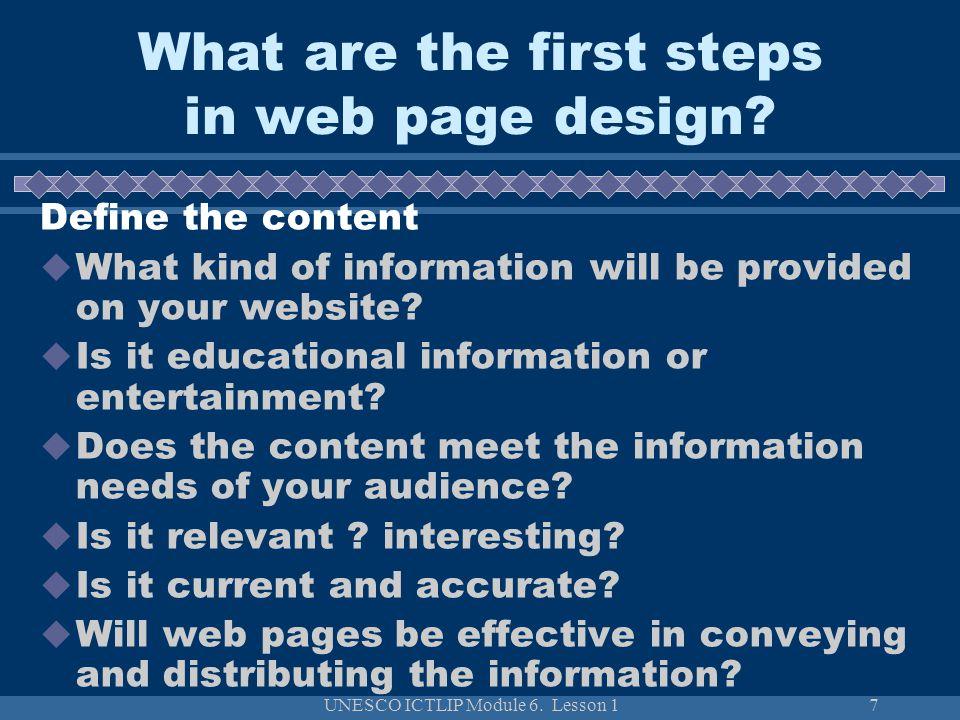 UNESCO ICTLIP Module 6.Lesson 128 How to evaluate web sites.
