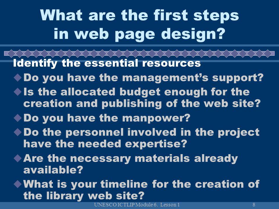 UNESCO ICTLIP Module 6.Lesson 129 How to evaluate web sites.