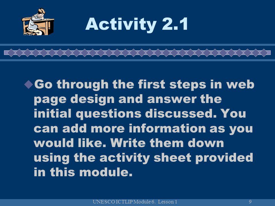 UNESCO ICTLIP Module 6.Lesson 130 How to evaluate web sites.