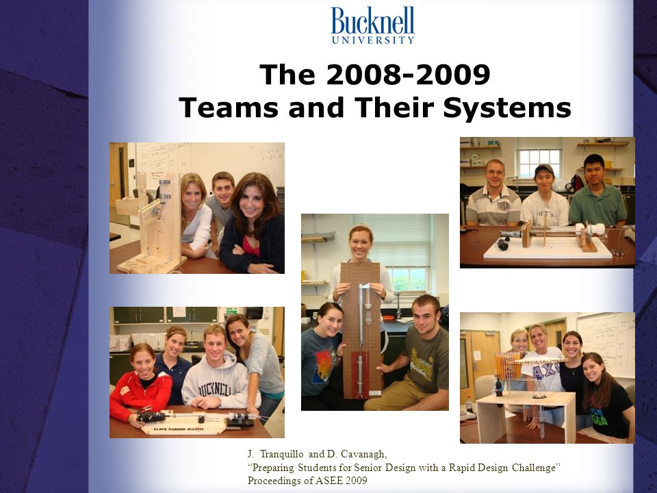 The Teams and Their Systems J. Tranquillo and D.