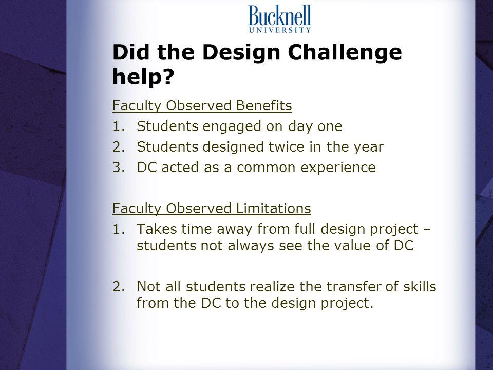 Did the Design Challenge help.