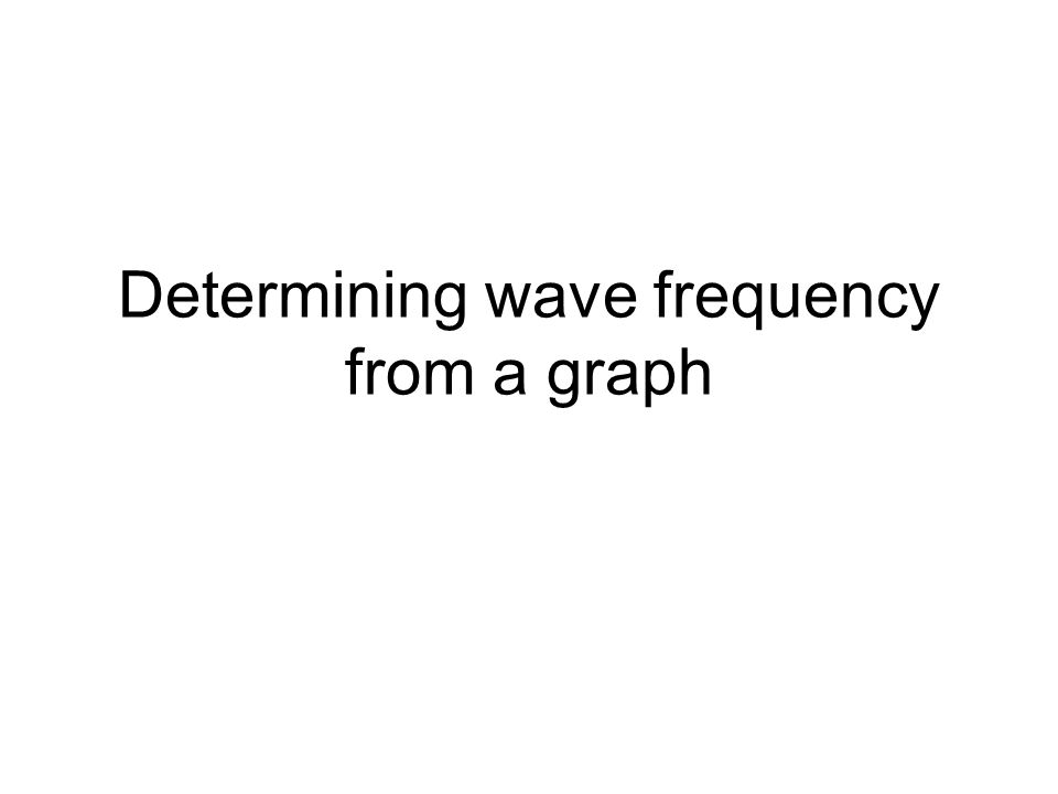 Determining wave frequency from a graph
