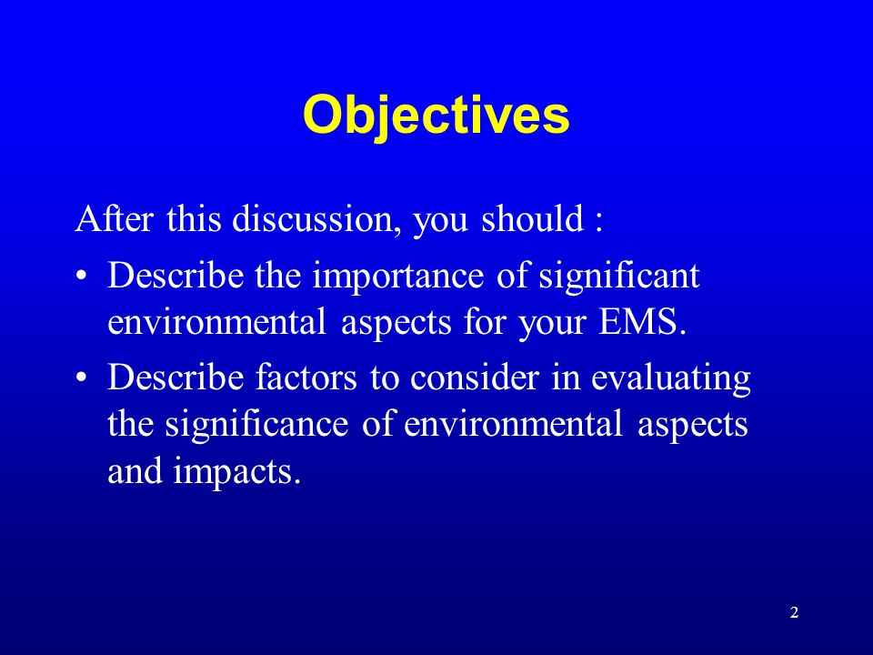 3 Overview Definition EMS Requirements Risk Assessment Decision Matrices