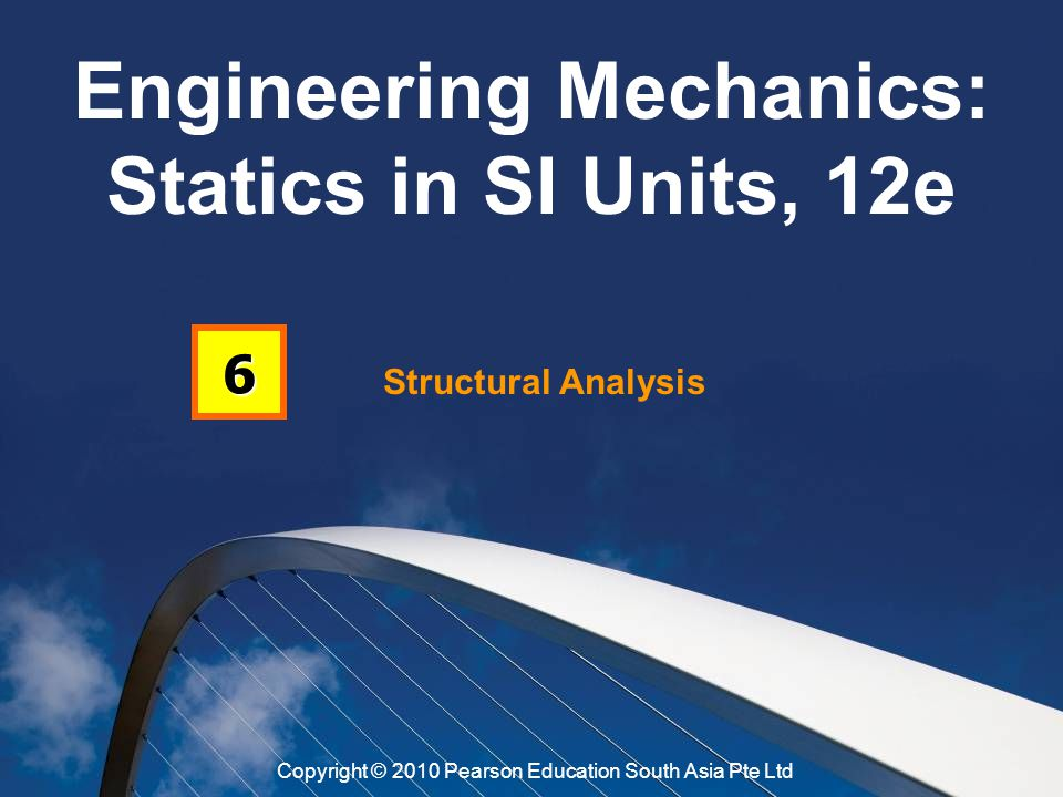 Structural Analysis 6 Engineering Mechanics: Statics in SI Units, 12e Copyright © 2010 Pearson Education South Asia Pte Ltd