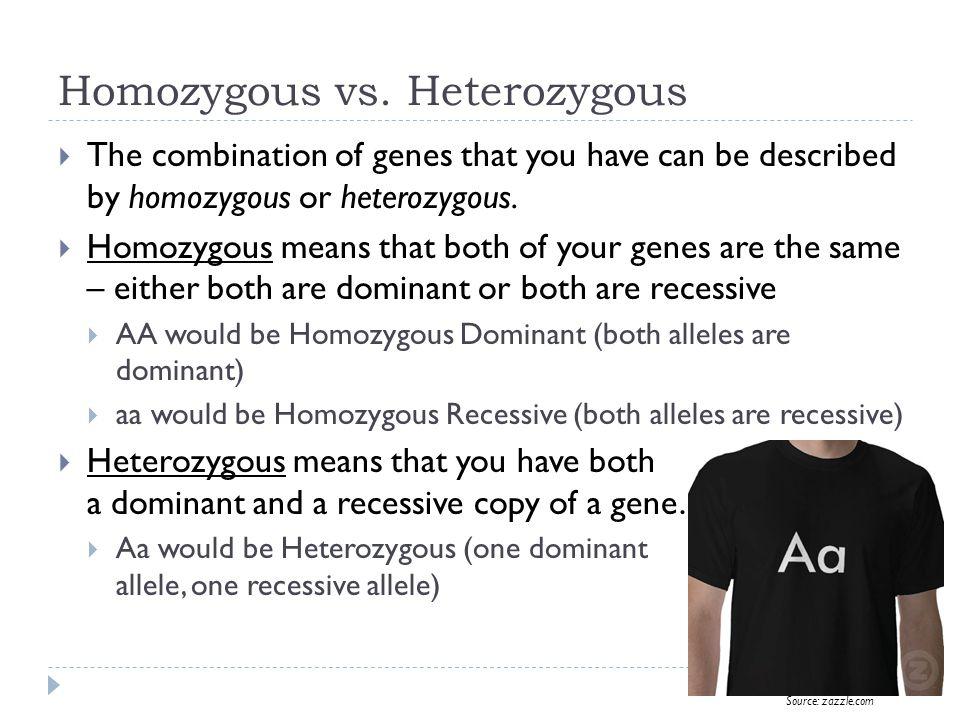 Homozygous vs.