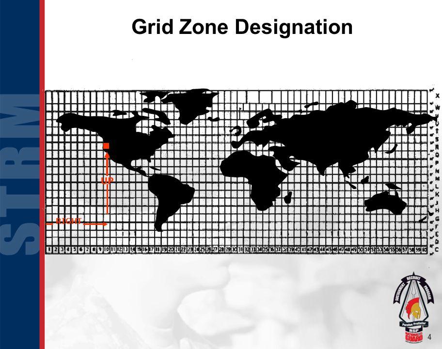 4 Grid Zone Designation UP RIGHT