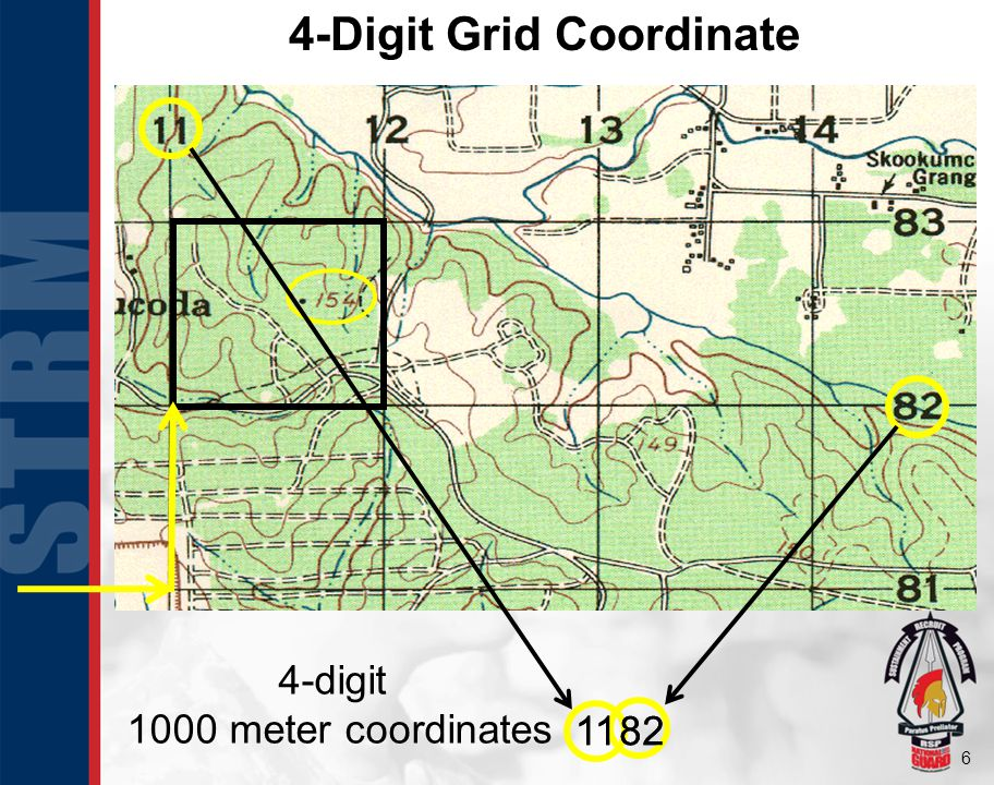 6 4-Digit Grid Coordinate 11 82 1182 4-digit 1000 meter coordinates