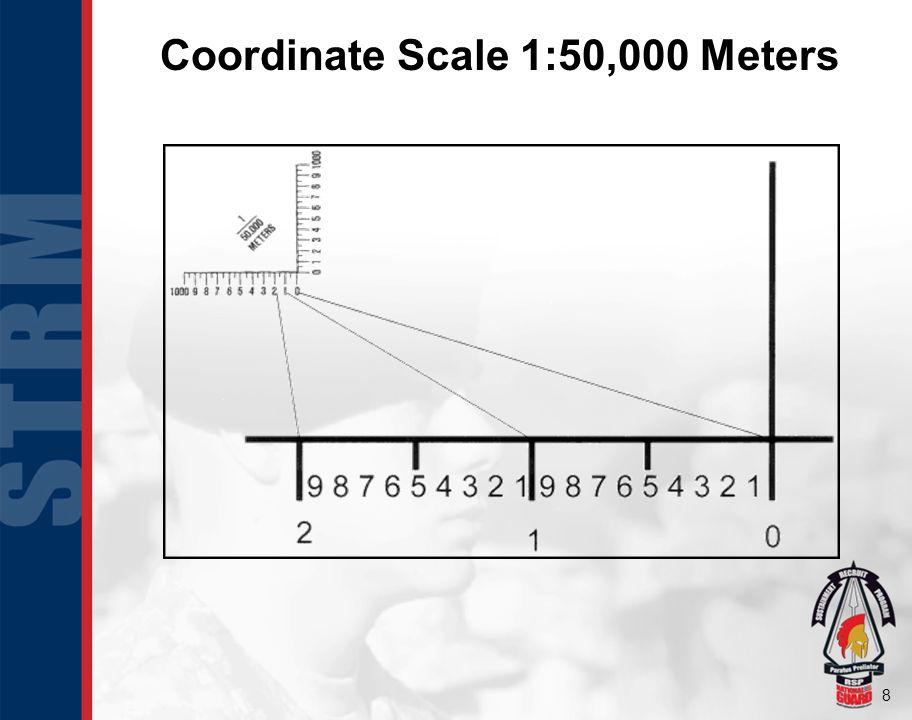 8 Coordinate Scale 1:50,000 Meters