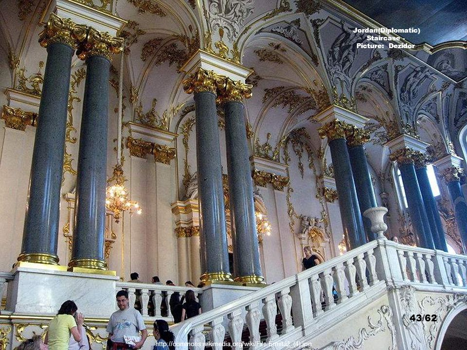 http://commons.wikimedia.org/wiki/File:Hermitage_St._Petersburg_Interior_20021009.jpg Jordan(Diplomatic) Staircase - Picture: Sanne Smit 42/62