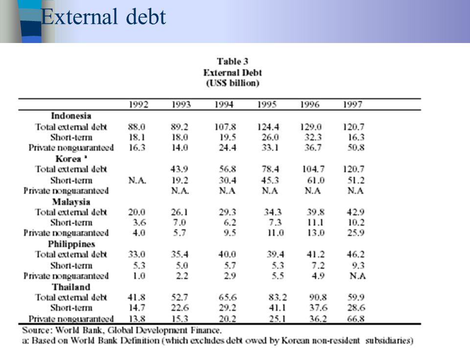 24 External debt