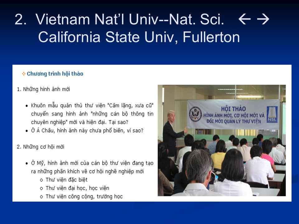2. Vietnam Nat'l Univ--Nat. Sci.   California State Univ, Fullerton