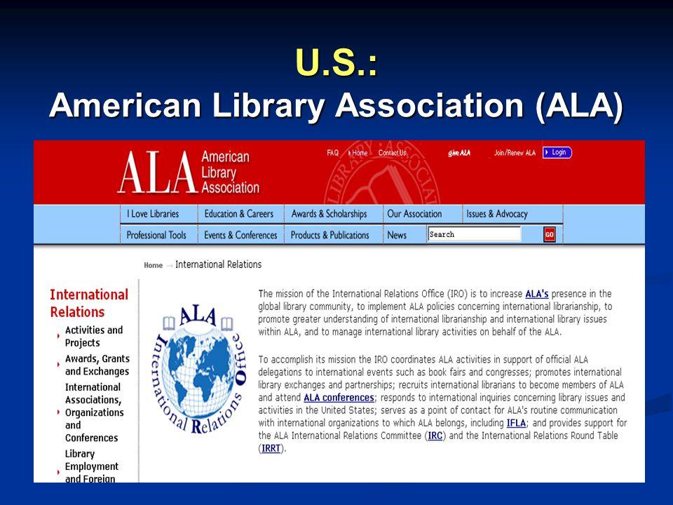 (ALA Sister Libraries page)